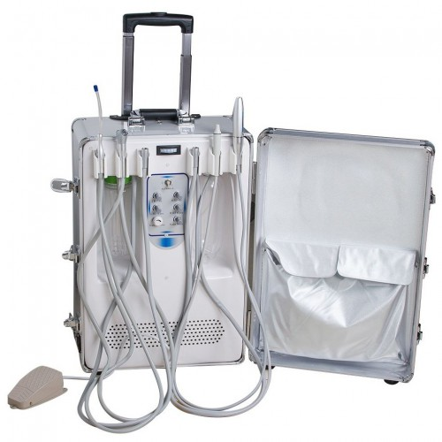 Portable Dental Unit BD406 with 3-Way Syringe+Suction + LED Curing Light + HP Tube
