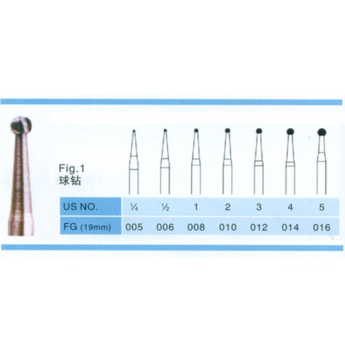 100PCS FG 1.6mm Dental Carbide Burs