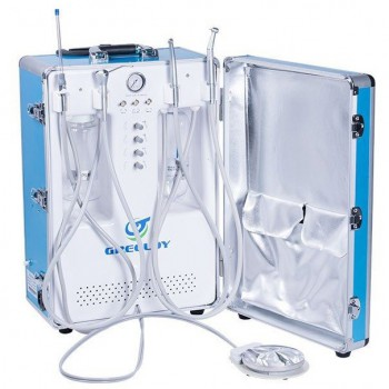 Greeloy GU-P204S Portable Dental Unit (Compressor+ Suction Unit+ Triplex Syringe...