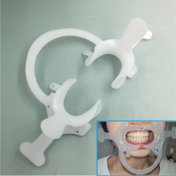 20Pcs Orthodontic Dental Plastic Mouth Opener Cheek Retractor with Handle C–shap