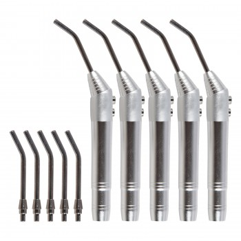 5 Pcs Dental Air Water Spray Triple Syringe 3 Way Handpiece Nozzles Tips