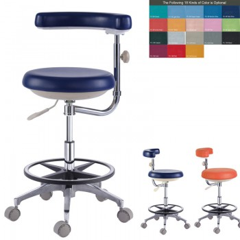 PU Leather Dental Doctor Dentist Assistant Nurse Stool Chair QY500(N)18 Colors