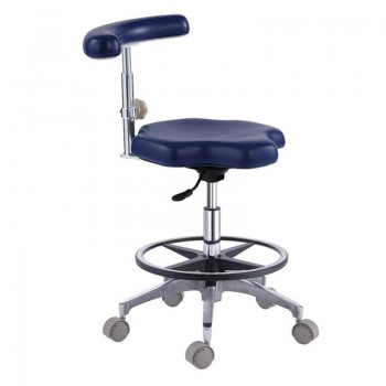 Dental Medical Chair Adjustable Mobile Nurse's Stools PU Leather AD90B
