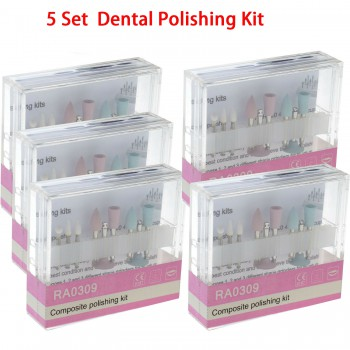 5 Set Dental Composite Polishing For Low-Speed Handpiece Contra Angle Kit RA0309