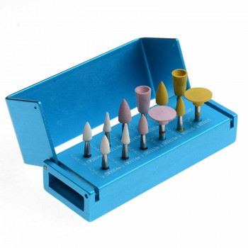 Dental Soft Silicone Polishers &Universal Diamond Polishers for Porcelain RA2112