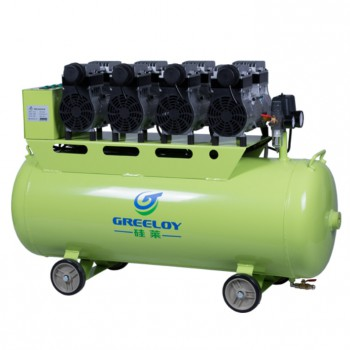 Greeloy GA-64 Piston Type Silent Oil Free Air Compressor Supporting 6 Dental Chairs/2400W 120L Dental Aircompressor