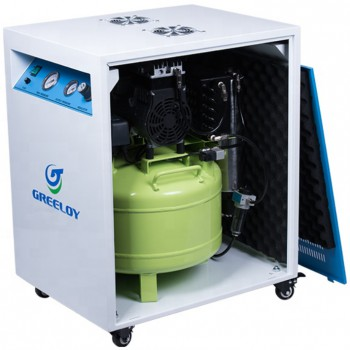 Greeloy® GA-81XY Dental Oilless Air Compressor With Drier and Silent Cabinet