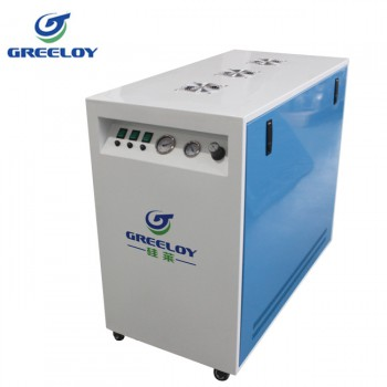 Greeloy® GA-83X Dental Oilless Air Compressor Oil Free with Silent Cabinet