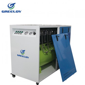 Greeloy® GA-84X Dental Oilless Air Compressor Oil Free with Silent Cabinet
