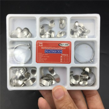 100 Pcs Dental Matrix Sectional Contoured Metal Matrices No.1.398lmws 35 Um Hard