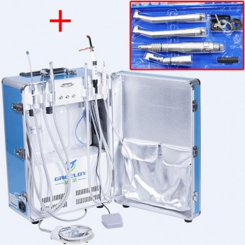 Greeloy® GU-P206 Portable Dental Unit + NSK Dental Handpiece Kits