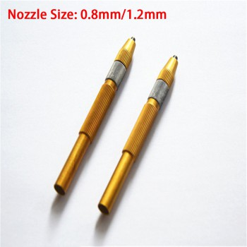 2 Pcs Domestic Sandblasting Pen For Dental Lab Equipment Sandblaster 0.8mm/1.2mm