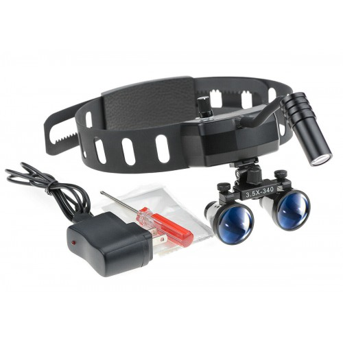 5W Dental Medical Headband Wireless LED Head Light with 3.5X Binocular Loupes