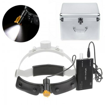 Dental Medical 5W LED Head Light with Filter Headband Headlamp + Aluminum Box