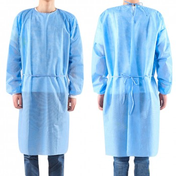 10pcs/set Disposable Bandage Coveralls Surgical Gown Dust-proof Isolation Clothe...