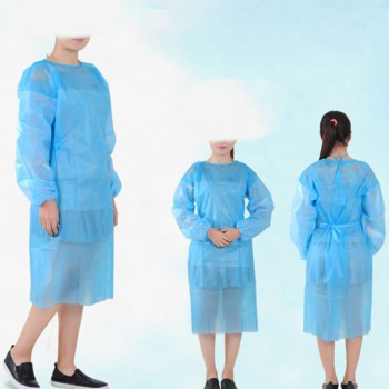 10 Pack Non-woven Disposable Isolation Gown Protective Isolation Clothing
