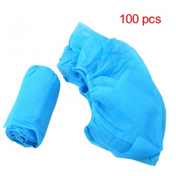 100Pcs Blue Non-woven Fabric Shoe Cover Fabric Disposable Overshoes Medical