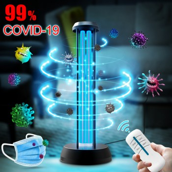 38W UV Light Sanitizer UV-C Disinfection Lamp with Ozone Remote