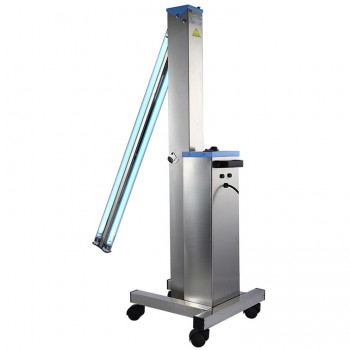 FY® 30DS Mobile UV+Ozone Disinfection Car Ultraviolet Lamp Stainless Steel Trolley Cart Unit