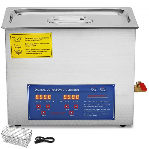 15L Ultrasonic Cleaner Machine Industry Heated Heater w/Timer Stainless Steel PS-60A
