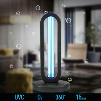 2020 New Air Purification System UVC Portable Disinfection Lamp With Ozone UV La...