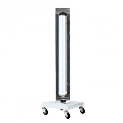150W Mobile UV + Ozone Disinfection Trolley Ultraviolet Lamp Sterilization Lamp UVC Germicidal Light