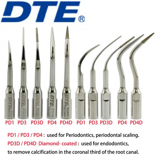 10Pcs Woodpecker DTE Scaler Tips Endodontics Periodontal Fit NSK Satelec