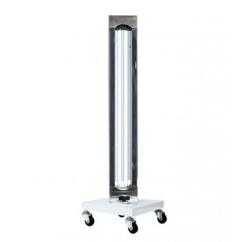 150W Commercial Mobile UV + Ozone Disinfection Trolley UVC Lamp Sterilization Sa...