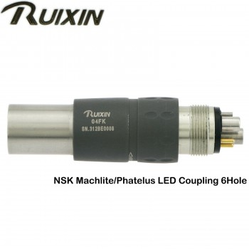 RUIXIN Dental LED Quick Coupling Coupler Fit NSK Fiber Optic Turbine Handpiece
