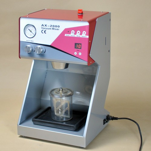 Dental Vacuum Mixer AX-2000C+ with Built-in Pump for Mix Plasters