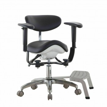 Qiyuan Dental Chair Saddle Stool Dentist Assistant Chair w/ Foot Base SDS-PB1