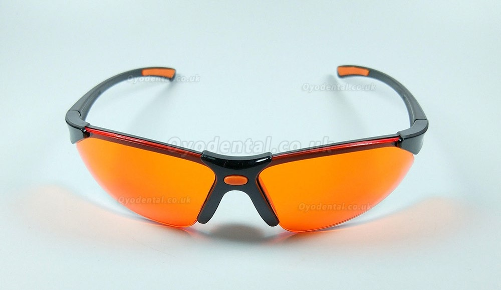 3Pcs Anti-Fog Safety Glasses Goggles Protective Orange Dental Curing Light Lamp