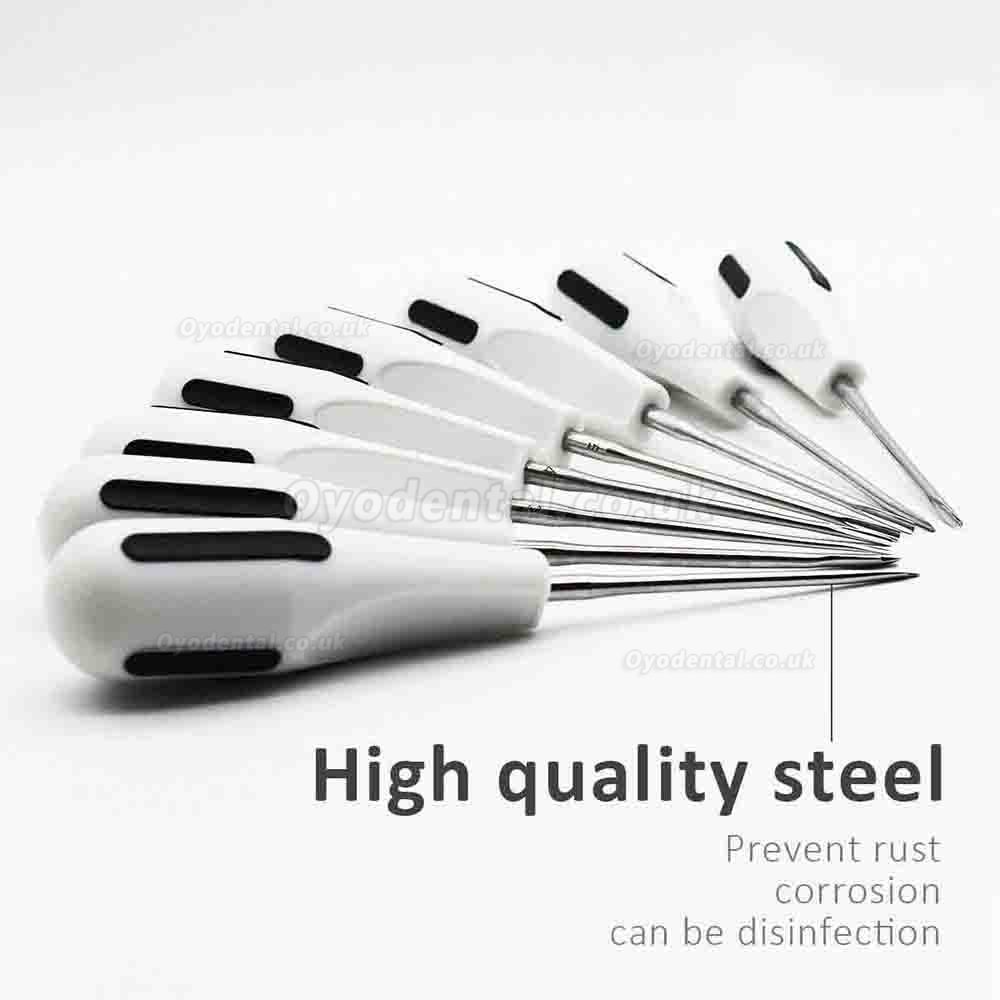 8pcs Tooth Extraction Elevators Kit Minimally Invasive Forceps Stainless Steel