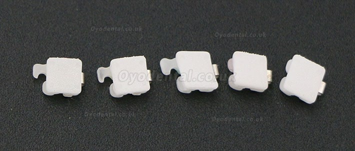 Hubit Korea Dental Orthodontic Self ligating Ceramic Brackets Roth 022 345 Hooks