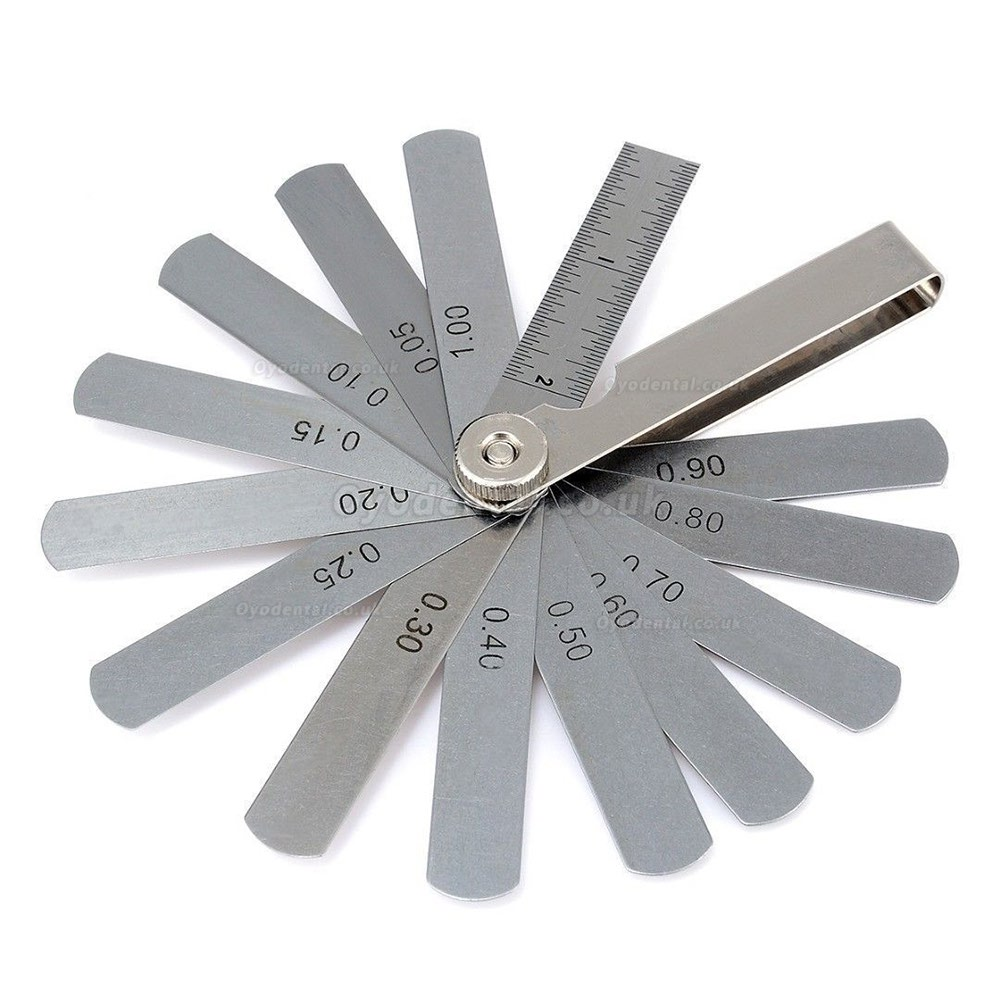 Dental Orthodontic Interproximal Enamel Reduction IPR Gauge Ruler 0.05-1.00 mm