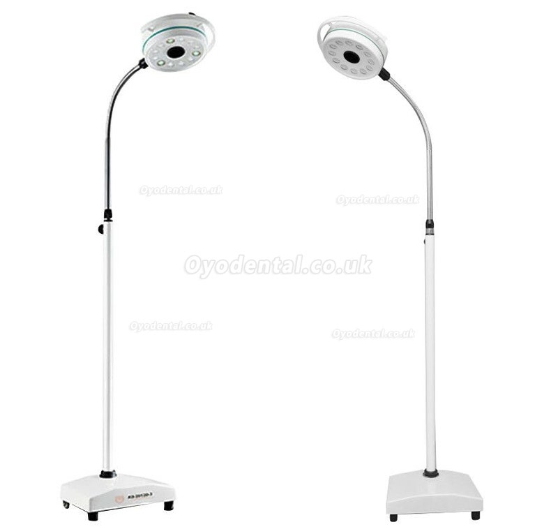 KWS® KD-2012D-3 Medical Dental Surgical Light LED Shadowless Operatory Lamp (With Base, Floor Stand Type)