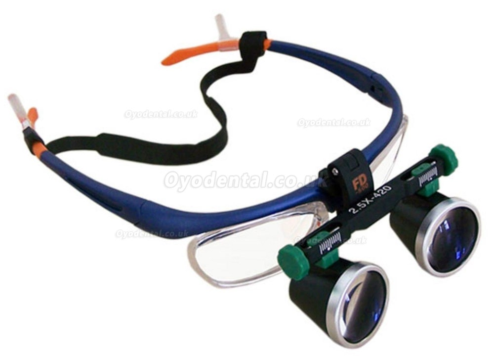 KWS 2.5X Medical Loupes Surgical Binocular Loupes Dental Magnifying Glass 420mm
