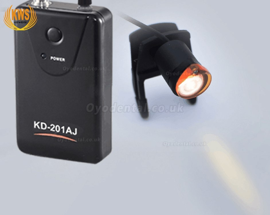 1W LED Dental Surgical Head Light Lamp Headlight Economic KWS KD-201AJ-1 Clip-on Type