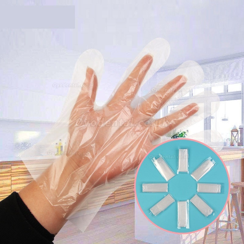 1000/2000pcs Plastic Disposable Gloves For Restaurant Kitchen BBQ Eco-friendly Food Gloves