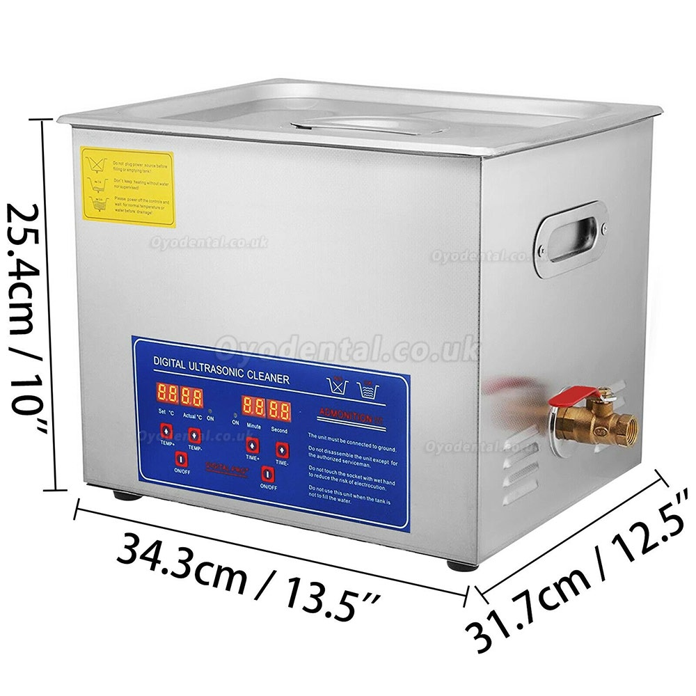 15L Ultrasonic Cleaner Stainless Steel Industry Heated Heater w/Timer PS-60A