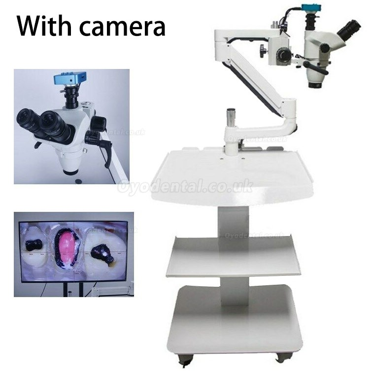 Trolley Type 5W Dental Root Canal Therapy Operating Microscope Loups with Camera