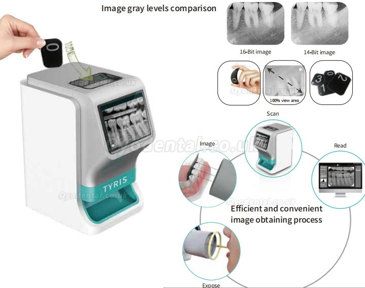 TYRIS TR-200 Dental Imaging Plate Scanner PSP X ray Scanner with True-color Touch Screen