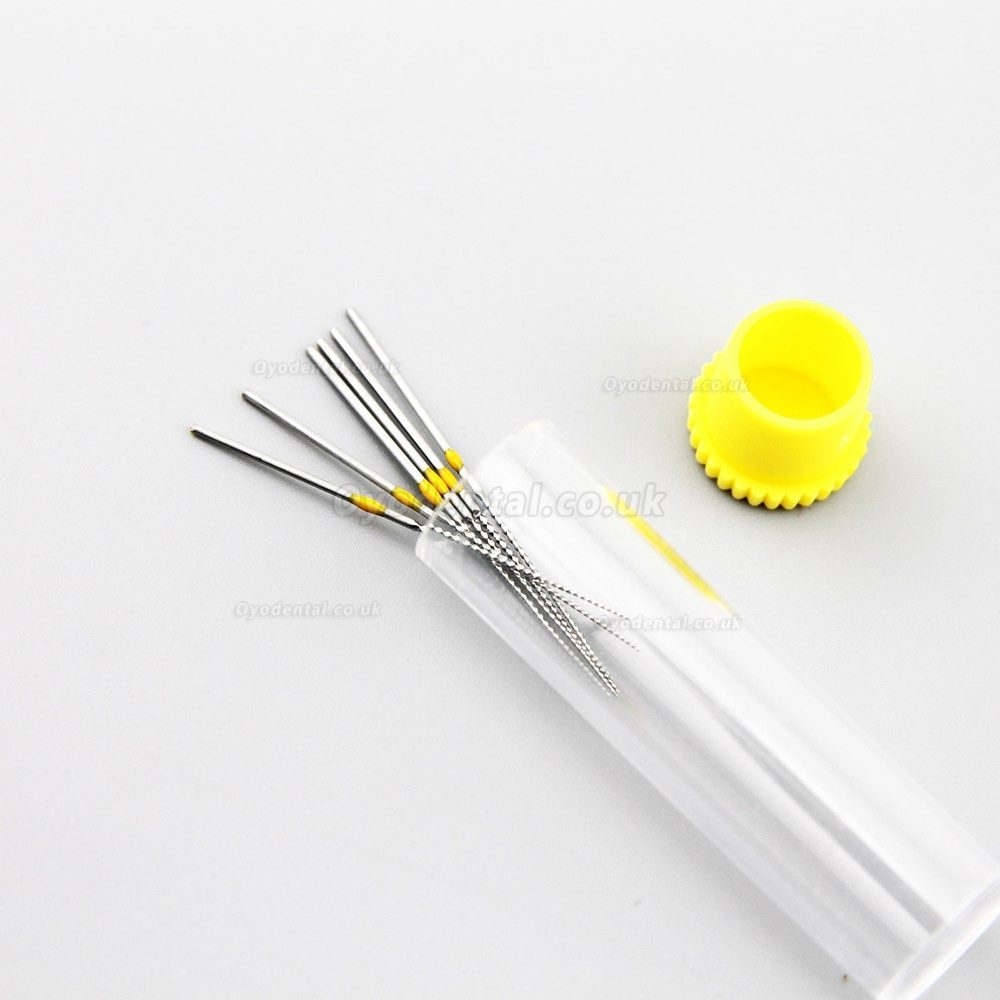 6Pcs Woodpecker Dental NITI Endodontic U-FILE For Dental Root Canal Cleaning 20#