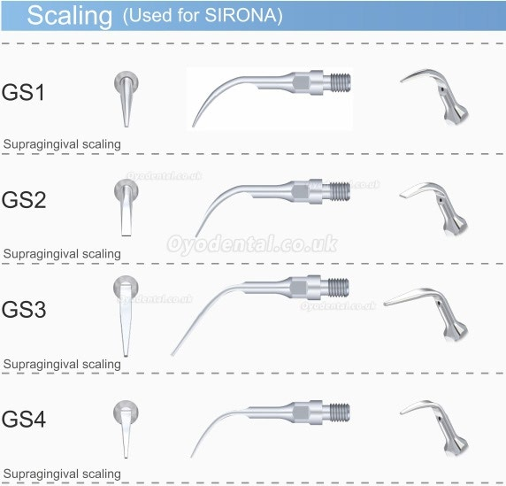 5PCS Woodpecker GS2 Dental Scaling Tip for Sirona Ultrasonic Scaler Handpiece